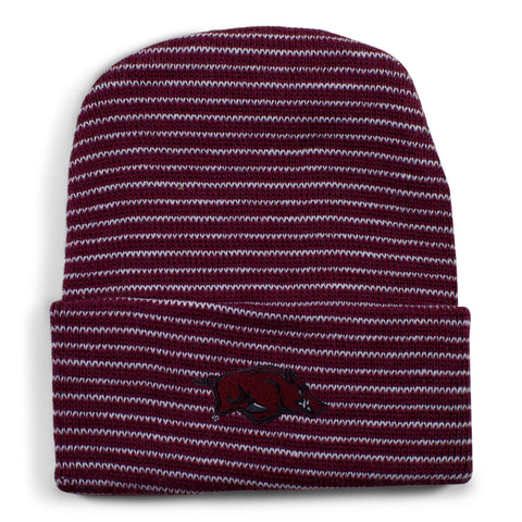 Two Feet Ahead - Arkansas - Arkansas Stripe Knit Cap