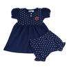 Two Feet Ahead - Auburn - Auburn Girl's Heart Dress with Bloomers