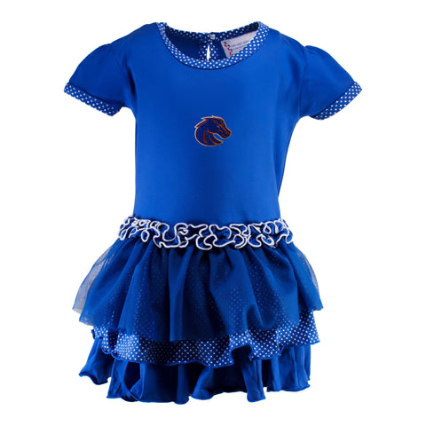 Two Feet Ahead - Boise State - Boise State Pin Dot Tutu Dress