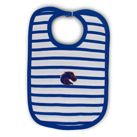 Two Feet Ahead - Boise State - Boise State Infant Stripe Knit Bib