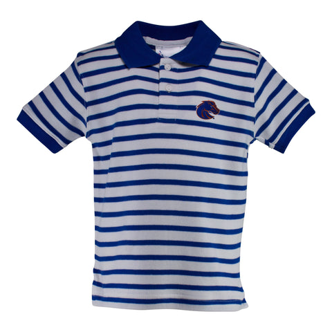 Two Feet Ahead - Boise State - Boise State Stripe Golf Shirt