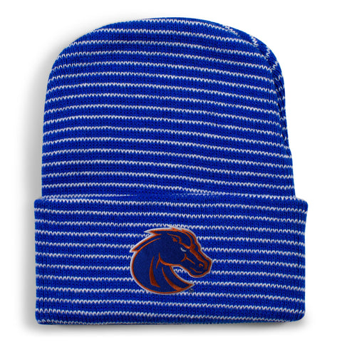 Two Feet Ahead - Boise State - Boise State State Stripe Knit Cap