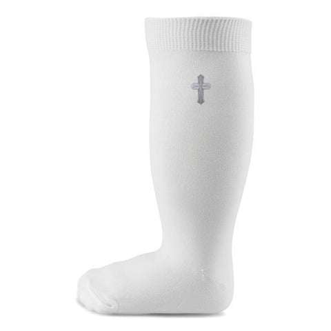 Two Feet Ahead - Socks - Christening Opaque Knee Sock