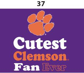 Two Feet Ahead - Clemson - Clemson Toddler Short Sleeve T Shirt Print