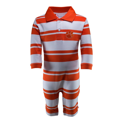 Two Feet Ahead - Clemson - Clemson Rugby Long Leg Romper