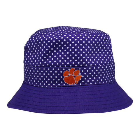 Two Feet Ahead - Clemson - Clemson Pin Dot Bucket Hat
