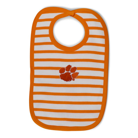 Two Feet Ahead - Clemson - Clemson Infant Stripe Knit Bib