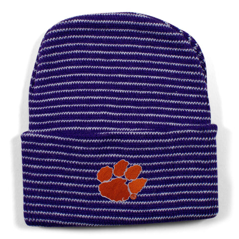 Two Feet Ahead - Clemson - Clemson Stripe Knit Cap
