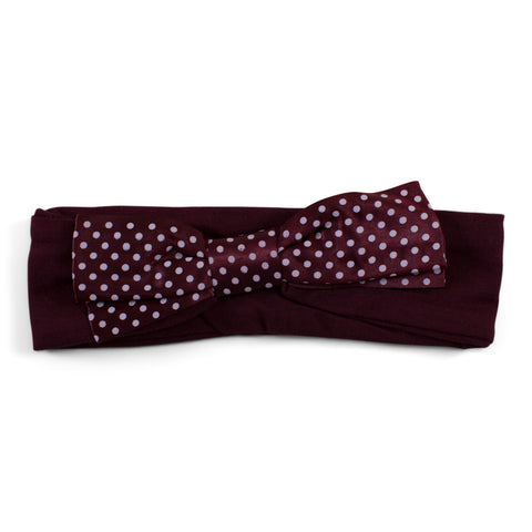 Two Feet Ahead - Texas A&M - Texas A&M Girl's Pin Dot Headband