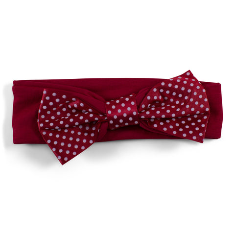 Two Feet Ahead - Southern Methodist - Southern Methodist Girl's Pin Dot Headband