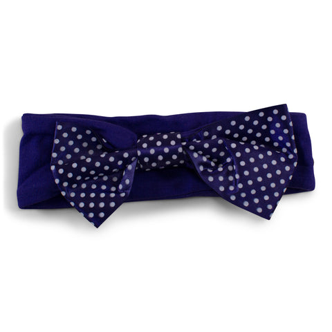 Two Feet Ahead - Texas Christian University - Texas Christian University Girl's Pin Dot Headband