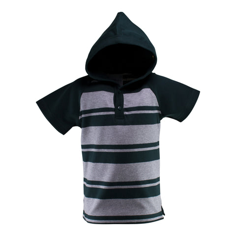 Two Feet Ahead - Infant Clothing - Toddler Short Sleeve Hooded Shirt