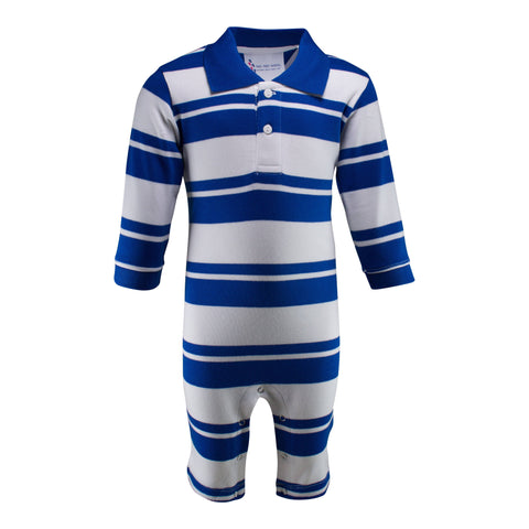 Two Feet Ahead - Infant Clothing - Infant Rugby Long Leg Romper