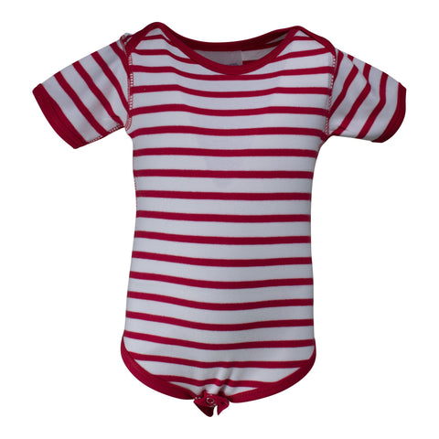 Two Feet Ahead - Infant Clothing - Infant Stripe Lap Shoulder Creeper