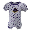 Two Feet Ahead - East Carolina - East Carolina Polka Dot Girl's Romper