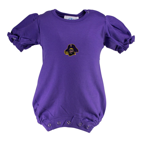 Two Feet Ahead - East Carolina - East Carolina Girl's Romper