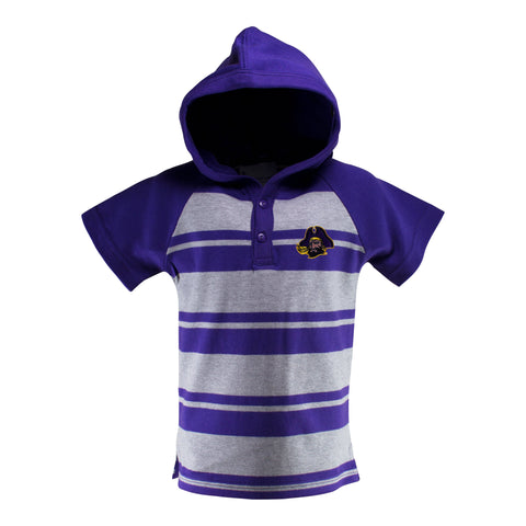 East Carolina Short Sleeve Hooded Shirt