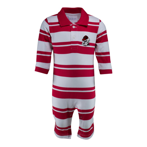 Two Feet Ahead - Georgia - Georgia Rugby Long Leg Romper