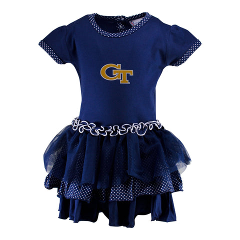 Two Feet Ahead - Georgia Tech - Georgia Tech Pin Dot Tutu Dress