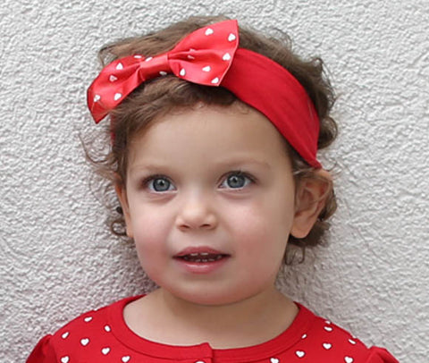 Two Feet Ahead - Southern Methodist - Southern Methodist Girl's Heart Headband