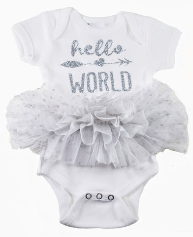 Two Feet Ahead - Infant Clothing - Girl's Hello World Tutu