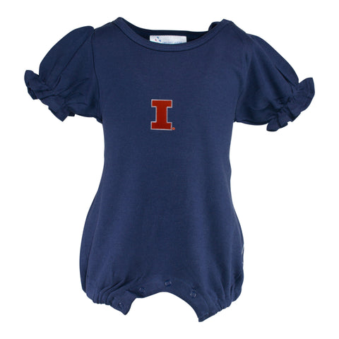 Two Feet Ahead - Illinois - Illinois Girl's Romper