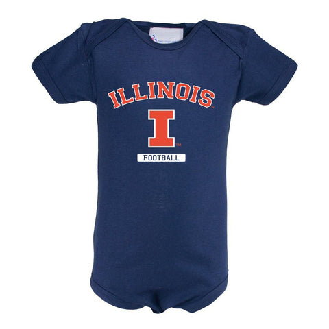 Two Feet Ahead - Illinois - Illinois Infant Lap Shoulder Creeper Print