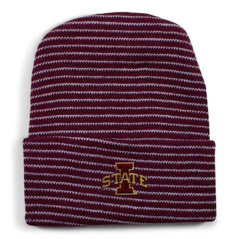 Two Feet Ahead - Iowa State - Iowa State Stripe Knit Cap