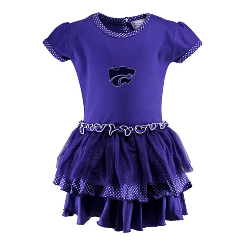 Two Feet Ahead - Kansas State - Kansas State Pin Dot Tutu Dress