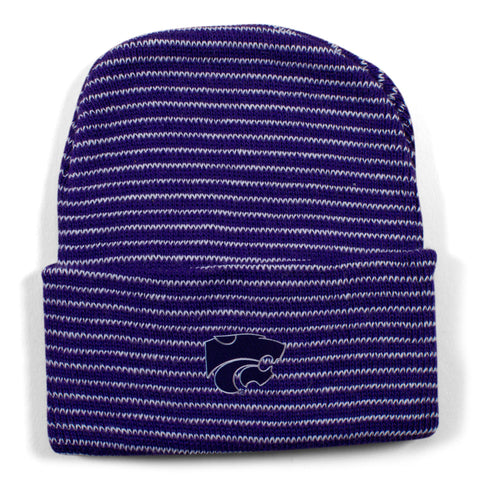 Two Feet Ahead - Kansas State - Kansas State Stripe Knit Cap
