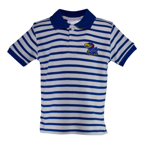 Two Feet Ahead - Kansas - Kansas Stripe Golf Shirt