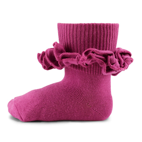 Two Feet Ahead - Socks - Girl's T-Shirt Ruffle Sock (1460)