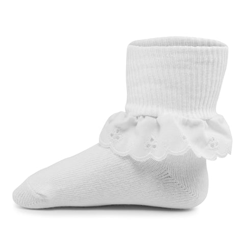 Two Feet Ahead - Socks - Girl's Eyelet Lace Anklet (1453)