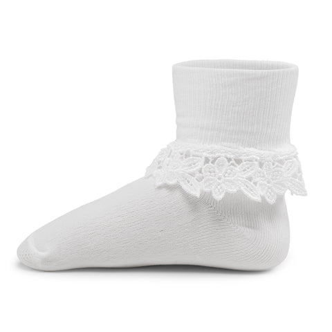 Two Feet Ahead - Socks - Girl's Floral Heirloom Anklet (1415)