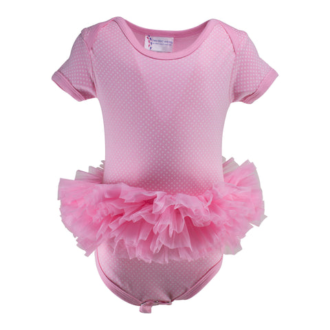 Two Feet Ahead - Infant Clothing - Infant Pin Dot Tutu Creeper