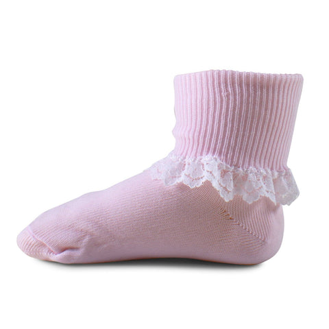 Two Feet Ahead - Socks - Girl's Single Row Lace Anklet (1290)