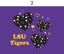 Two Feet Ahead - LSU - LSU Infant Lap Shoulder Creeper Print
