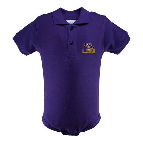 Two Feet Ahead - LSU - LSU Golf Shirt Romper