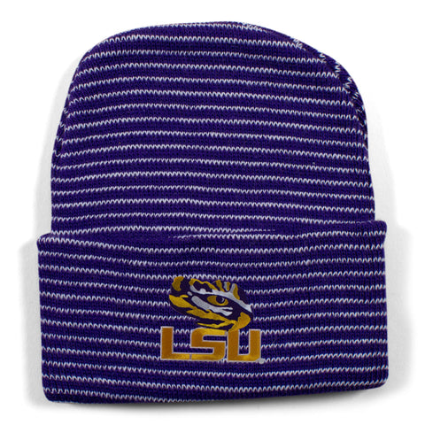 Two Feet Ahead - LSU - LSU Stripe Knit Cap