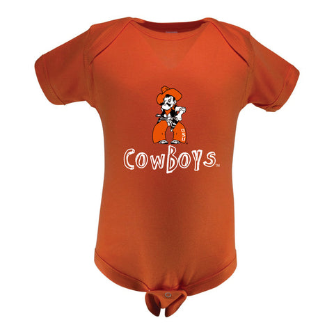 Two Feet Ahead - Oklahoma State - Oklahoma State Infant Lap Shoulder Creeper Print