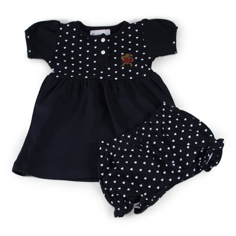 Maryland Girl's Heart Dress with Bloomers
