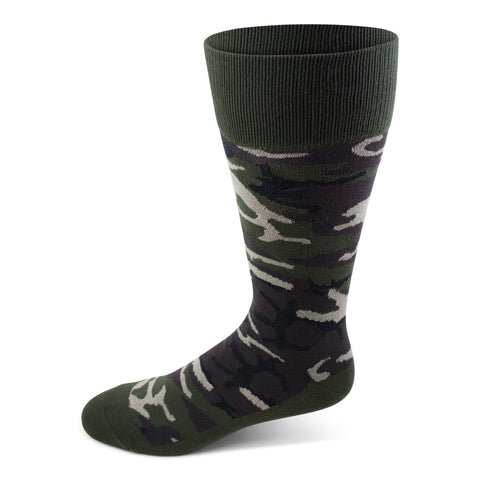 Two Feet Ahead - Socks - Men's Camo Crew Sock (11275)
