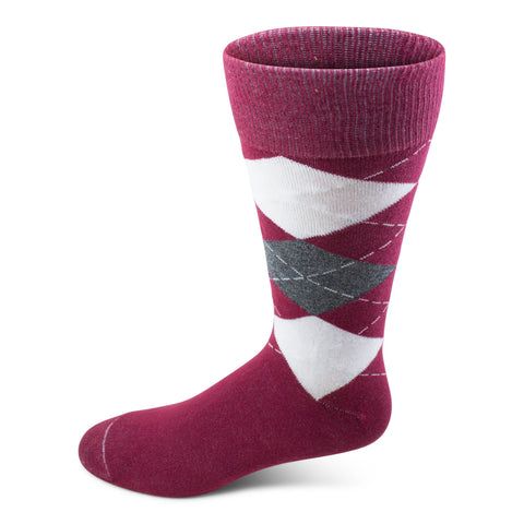 Two Feet Ahead - Socks - Argyle Crew Sock