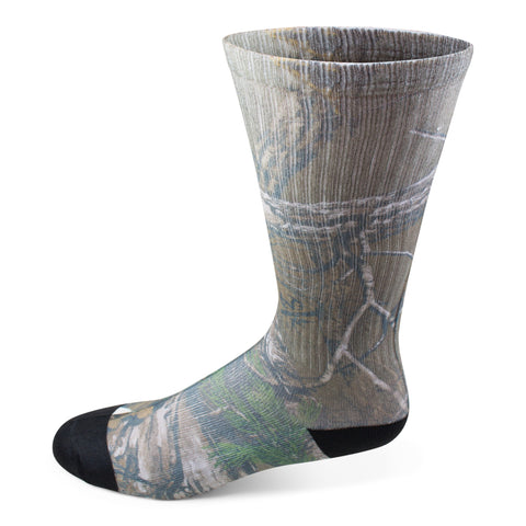 Two Feet Ahead - Socks - Men's Realtree Camo Crew Sock (11276)