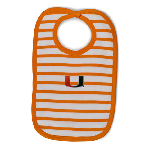 Two Feet Ahead - Miami - Miami Infant Stripe Knit Bib