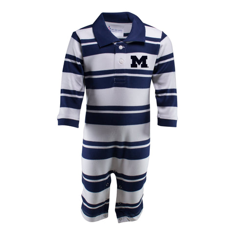 Two Feet Ahead - Michigan - Michigan Long Leg Romper