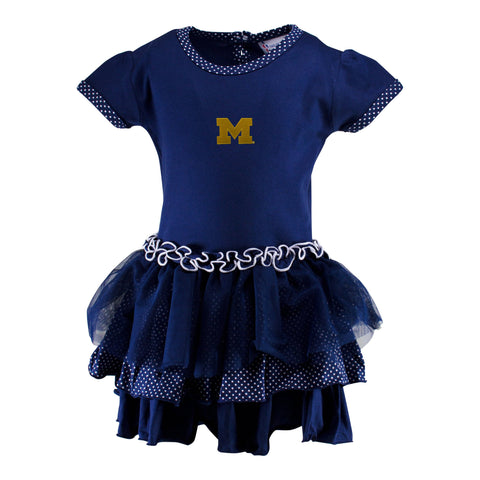 Two Feet Ahead - Michigan - Michigan Pin Dot Tutu Dress