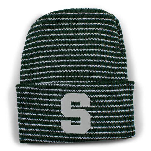 Two Feet Ahead - Michigan State - Michigan State Stripe Knit Cap