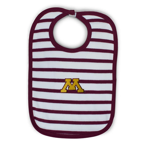 Two Feet Ahead - Minnesota - Minnesota Infant Stripe Knit Bib
