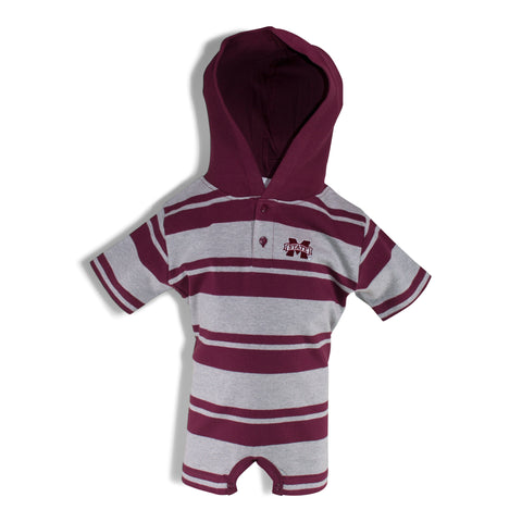 Two Feet Ahead - Mississippi State - Mississippi State Hooded T-Romper